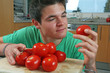 Tomaten begutachten