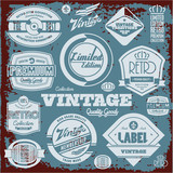 Vintage labels collection. Retro design elements.