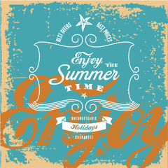 Summer vintage background. Vintage label.