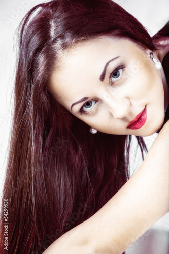 Fashion portrait young beautiful woman