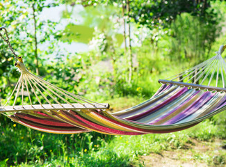 hammock against the nature