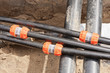 Kabelschutzrohr - Leerrohr mit Verbindungsmuffe