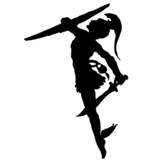 Perseus Silhouette Vektor poster