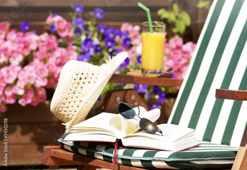 canvas print picture Urlaub auf dem Balkon
