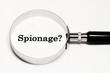 Leinwandbild Motiv Spionage