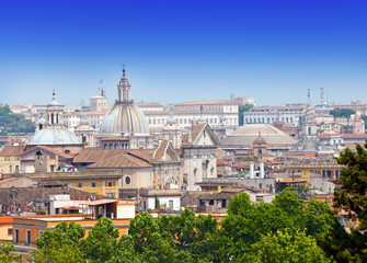 The top view on the city. Rome. Italy..