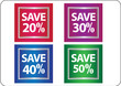 promotional sale labels set