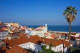 Lisbon Alfama Panoramic View Toward the River