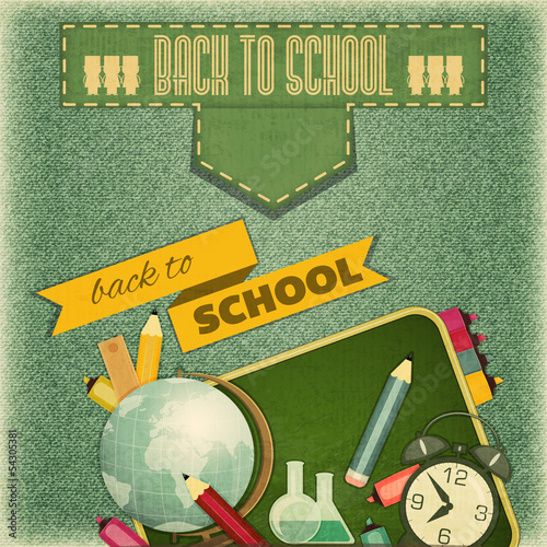 Back to School Retro Card