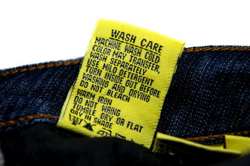 Washing Jeans Instructions