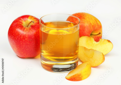 Glass of apple juice