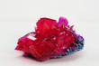 Leinwandbild Motiv close up of crystals in ruby color