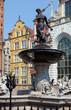 Famous Neptune fountain at Dlugi Targ square.