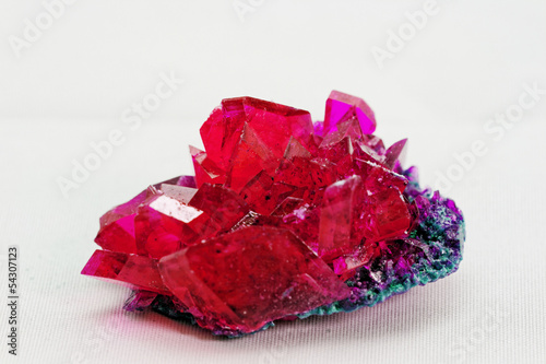 close up of crystals in ruby color - 54307123
