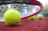 .Tennis balls on Court