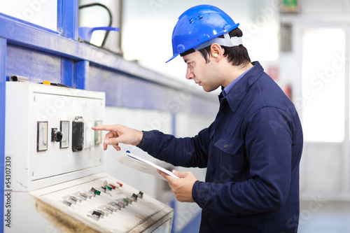 Mechanical technician at work