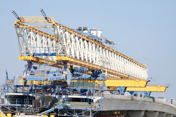 Closeup of Giant Launching Girder