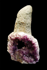 Beautiful purple quartz crystal, Amethyst
