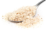 Medicinal Isabgol or psyllium husks with a spoon