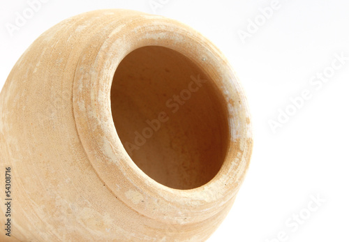 close view inside a traditional arabic pot