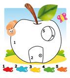 gioco, colora la mela