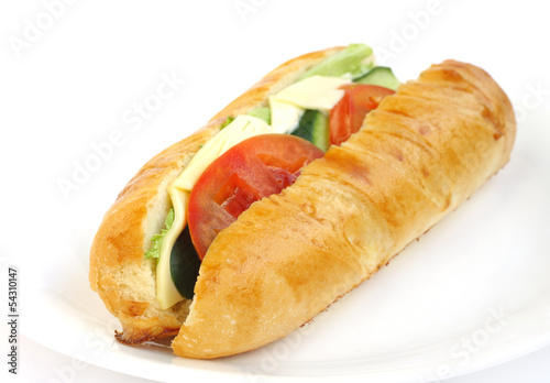 Delicious vegetable sandwich