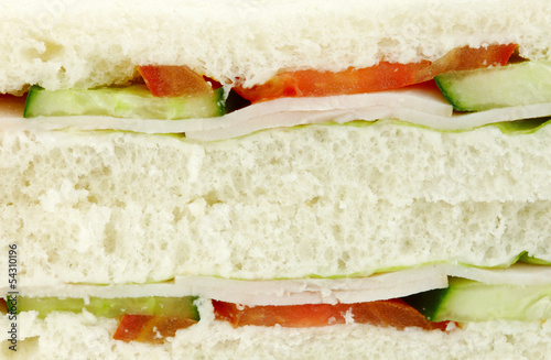 Turkey bread sandwich with Vegetables