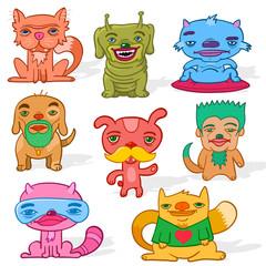 Set of weird pets
