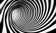 Leinwandbild Motiv Fondo espiral abstracta 3d en blanco y negro