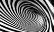 Fondo espiral abstracta 3d en blanco y negro - 54311544