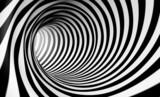 Fondo espiral abstracta 3d en blanco y negro - 54311506