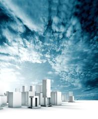 proyecto de ciudad.Contruccion moderna
