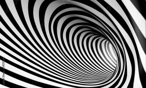 mata magnetyczna Fondo espiral abstracta 3d en blanco y negro