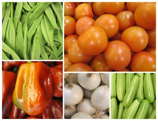 Vegetables collage 5