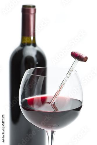 Fototapeten,weingläser,flasche,cabernet wine,thermometer