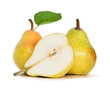 pears over white background