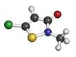 Methylchloroisothiazolinone preservative molecule.
