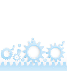 Cog wheels seamless border vector