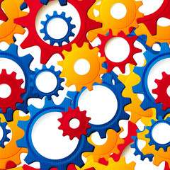 Cog wheels textured seamless vector
