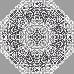 White Lace Ornament Pattern.