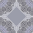 Lace ornament, white ornamental doily pattern.