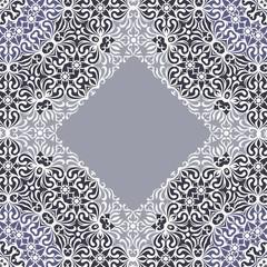 Lace ornament, white ornamental doily pattern.