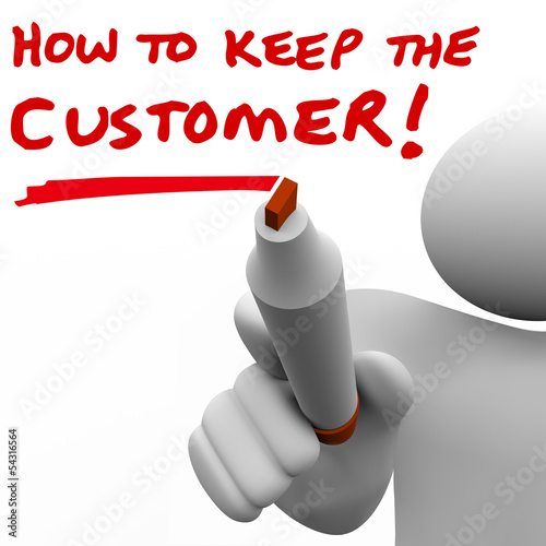 Man Writing How to Keep the Customer on Board