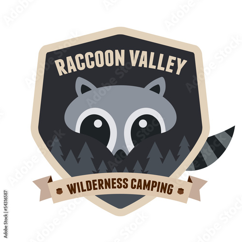 Raccoon badge
