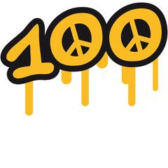 100 Peace Symbol