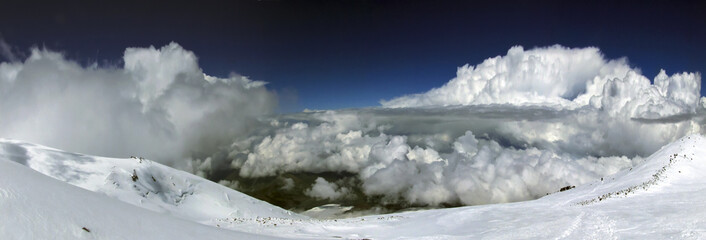 East Peak of Elbrus Caucasus mountains at an altitude of 5621 m