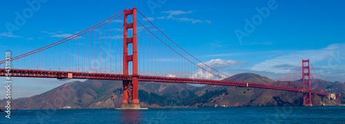 Foto op Aluminium San Francisco Panoramic View of Golden Gate Bridge in San Francisco
