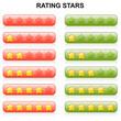 Rating Stars - 0 bis 5 - rot und grün