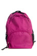 pink Backpack on a white background