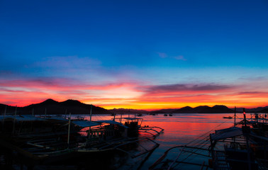 Evening at the Coron Bay